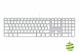 Clavier filaire A1243 Apple avec pavé numérique et ports USB – Clavier français AZERTY (FR)