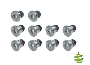 Lot de 10 vis P5 Pentalobe pour coque inférieure de MacBook Pro Retina 13 pouces A1502 et A1425 et 15 pouces A1398 (2012-2015)