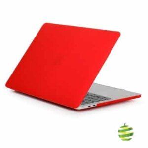 Coque de protection intégrale rigide mate pour MacBook Pro Rétina 13 Pouces A1706 et A1708 (2016/2017) - Rouge