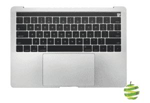 661-05334-US + Topcase avec batterie pour MacBook Pro 13 pouces Retina A1706 Touch Bar clavier Qwerty (US) Argent_1_BestInMac