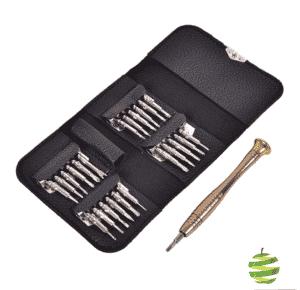 Pochette en cuir petit format idéal en voyages pour réparation multiples Apple