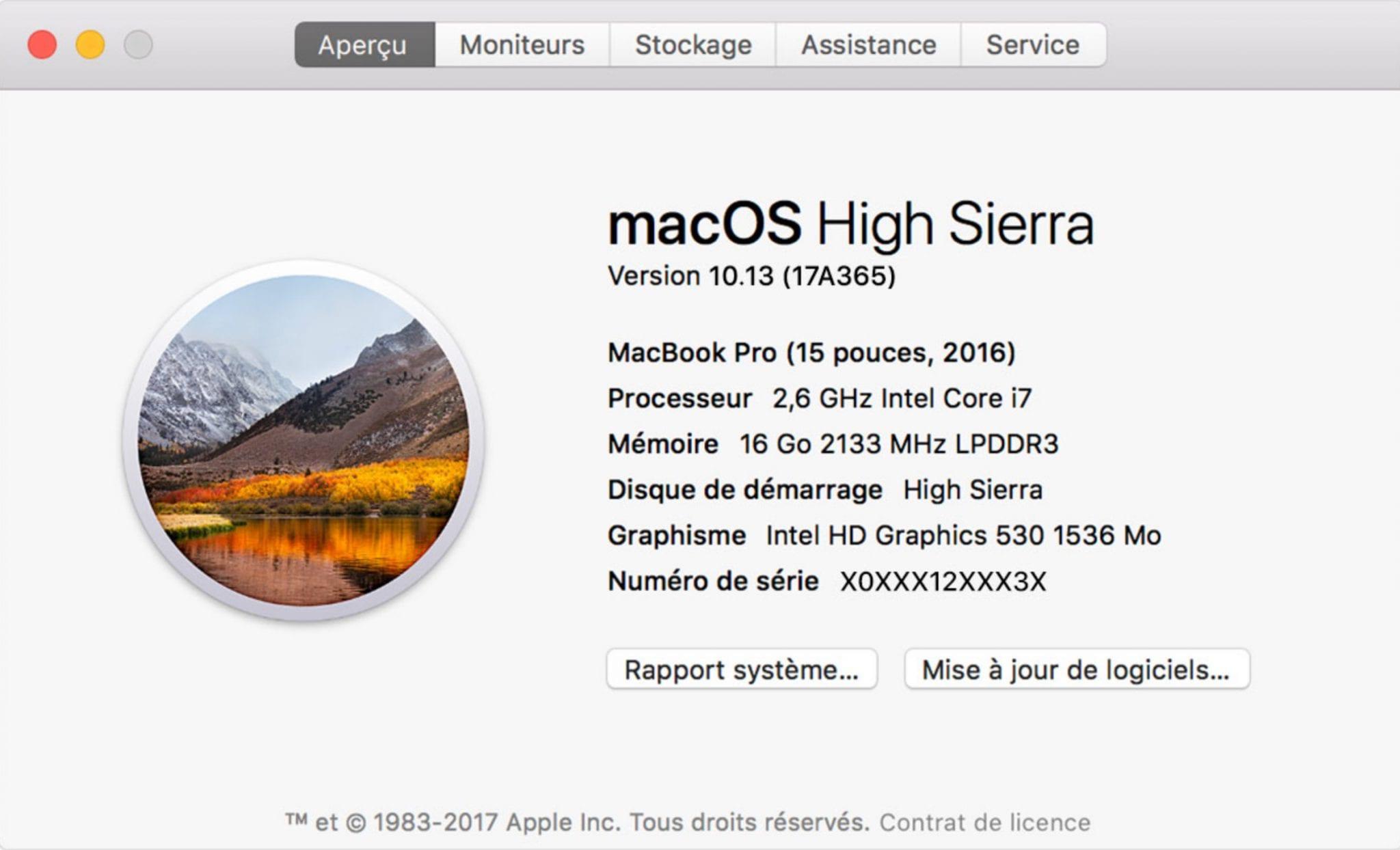 """Résultat de recherche d'images pour """"À propos de ce Mac"""""""