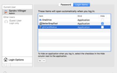 Désactivation des Applications en arrière plan sur votre Mac