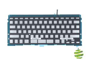 Vue avant d'une Feuille de rétroéclairage pour clavier Qwerty (US) Apple MacBook Pro 15 pouces A1398 (2012-2015)