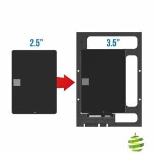 Kit de conversion de baie de disque SATA/SSD et disques durs SATA de 2,5 pouces vers baie de bureau de 3,5 pouces