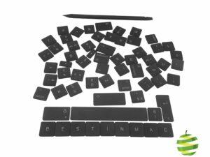 Lot complet de touches de clavier pour MacBook Pro Retina TouchBar 13 pouces A1989 et 15 pouces A1990 (2018-2019)