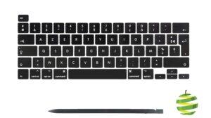 """Touches et Spudger pour clavier Azerty (FR) MacBook Pro 16"""" A2141 et 13"""" A2289 A2251 (2019-2020)"""