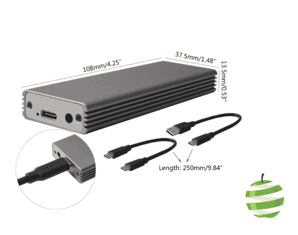 Boitier externe pour SSD PCIe Apple MacBook Air/Pro (mi-2013 à mi-2015) BestinMac.com